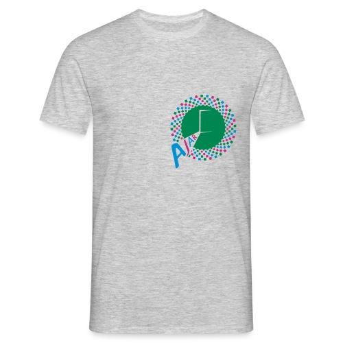 AJAR Logo Circle 3 Colour Spiral - Men's T-Shirt