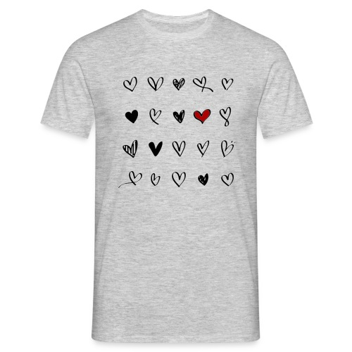 valentines hearts - T-shirt Homme