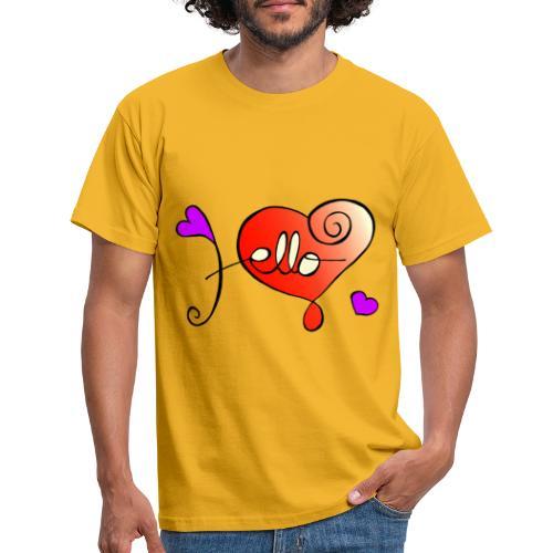 Hello Herz - Männer T-Shirt