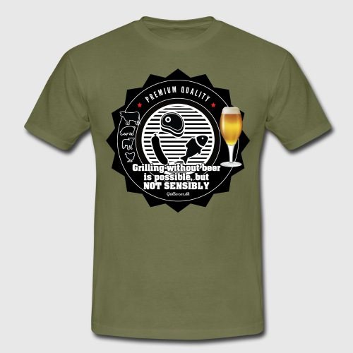 Grilling without beer s possible but not sensible - Herre-T-shirt