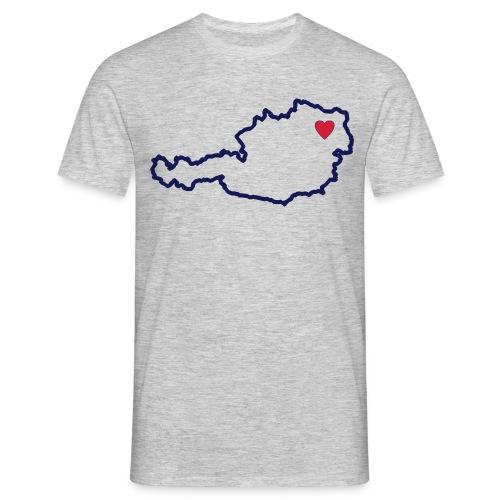 Ein Herz für Österreich - Männer T-Shirt
