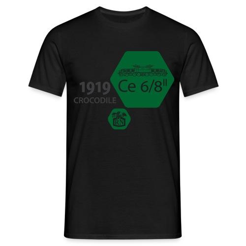 Waben Krokodil grün - Männer T-Shirt