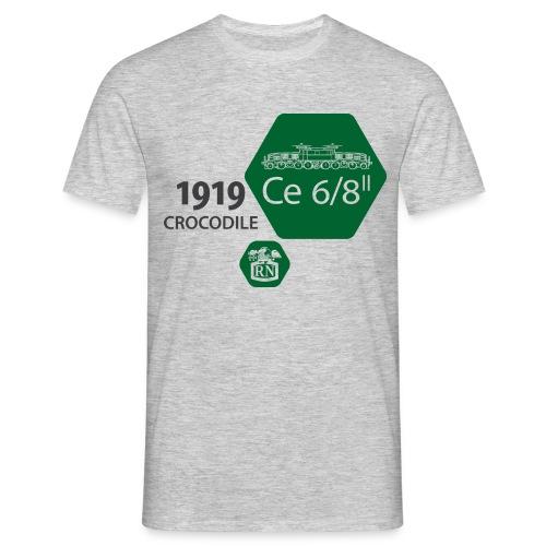 Waben Krokodil grün - Men's T-Shirt