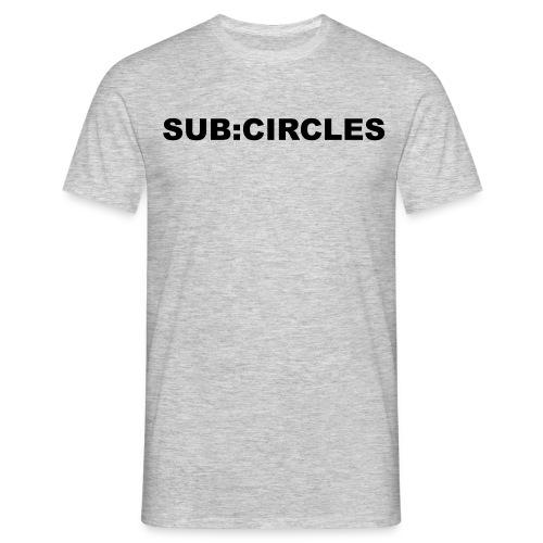 sub:circles Logo black - Männer T-Shirt