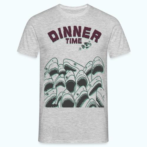 Dinner Time Funny Retro 90s Shark Shirt - Men's T-Shirt
