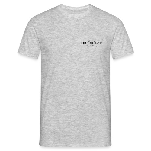 Small design count your travels - Men's T-Shirt