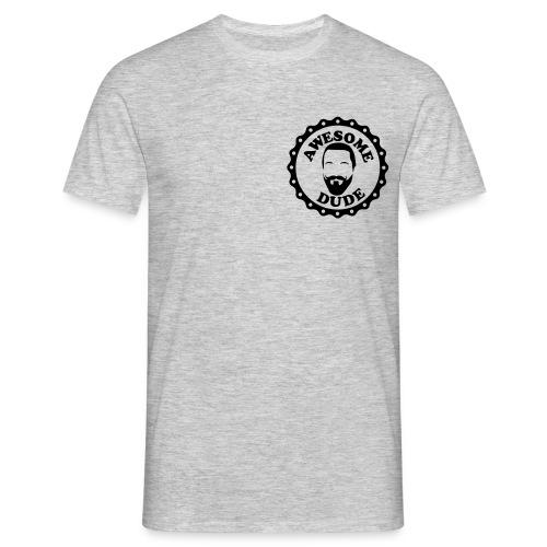 Siegel awesome dude Vers.harry - Männer T-Shirt