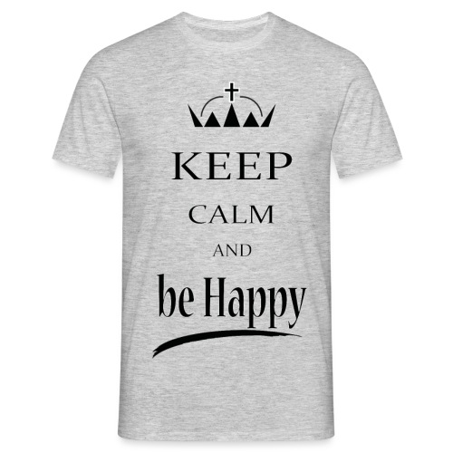 keep_calm and_be_happy-01 - Maglietta da uomo