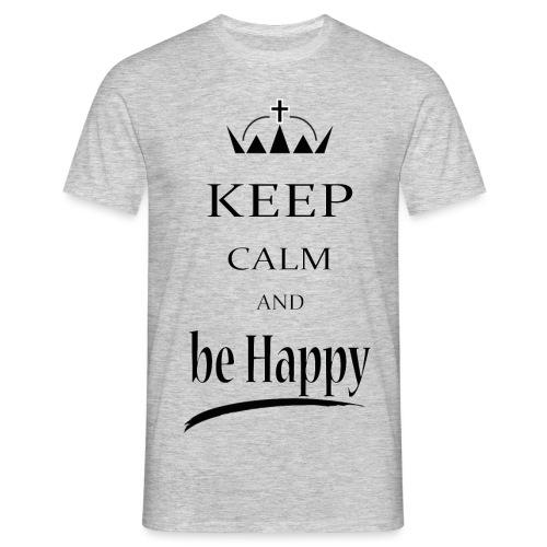 keep_calm and_be_happy-01 - Maglietta da uomo
