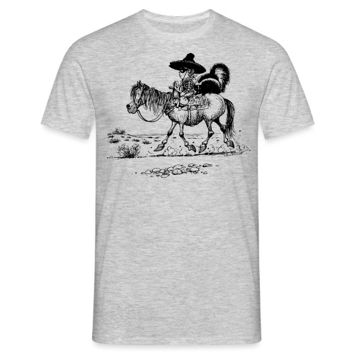 Thelwell 'Cowboy with a skunk' - Men's T-Shirt