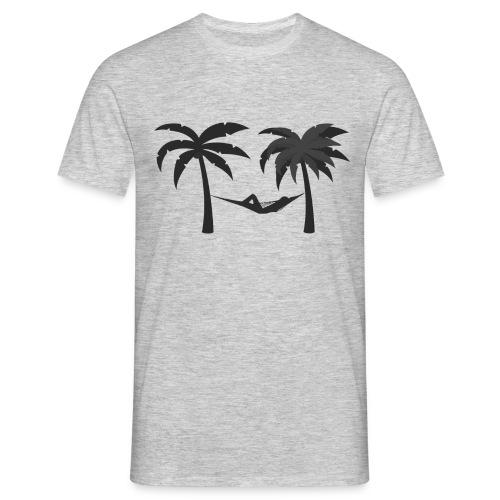 Hängematte mitzwischen Palmen - Männer T-Shirt