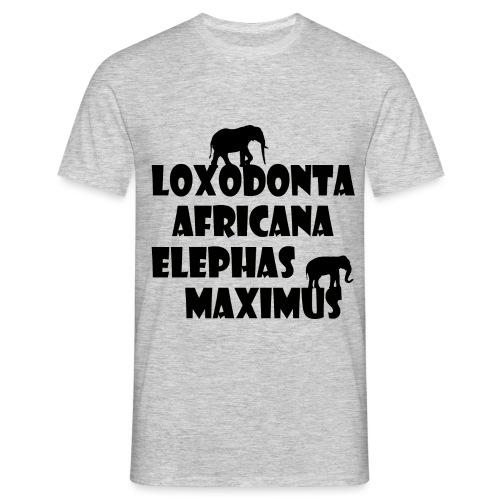 LOXODONTA AFRICANA - ELEPHAS MAXIMUS - Männer T-Shirt