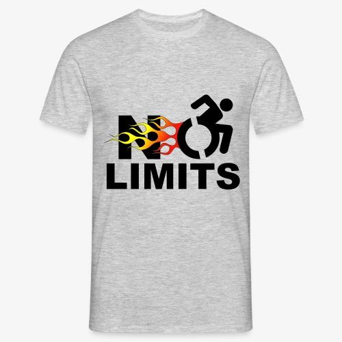 Geen grenzen voor deze rolstoel gebruiker - Mannen T-shirt