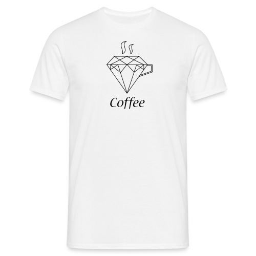Coffee Diamant - Männer T-Shirt