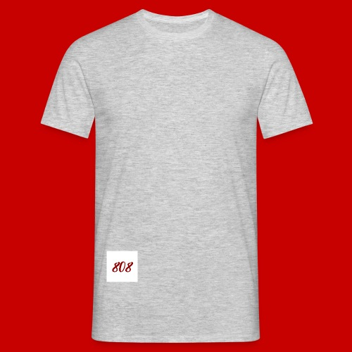red on white 808 box logo - Men's T-Shirt