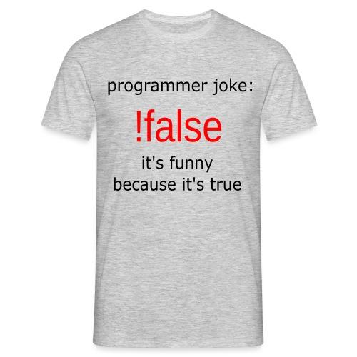 programmerjoke - Mannen T-shirt
