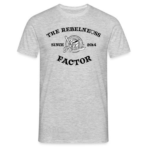Rebelness druck - Männer T-Shirt