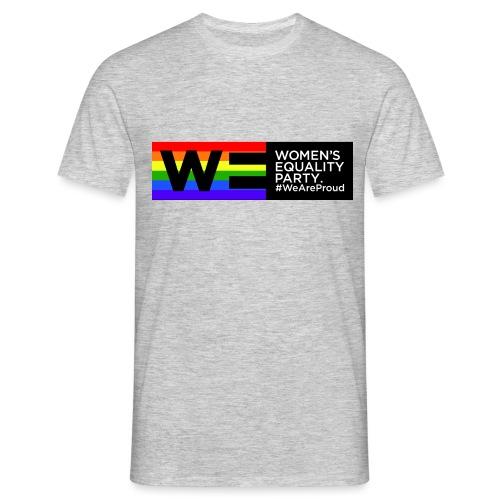 WE_LOGO_PRIDE_RECTANGLE - Men's T-Shirt