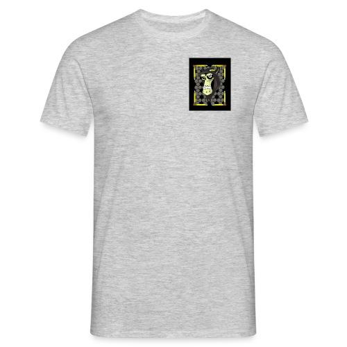 grumpy-skull002 (500x400) - Men's T-Shirt