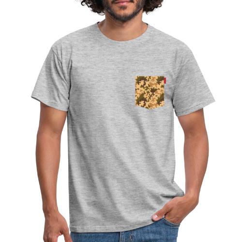 Brown Orange Camo Pocket Patch - Men's T-Shirt