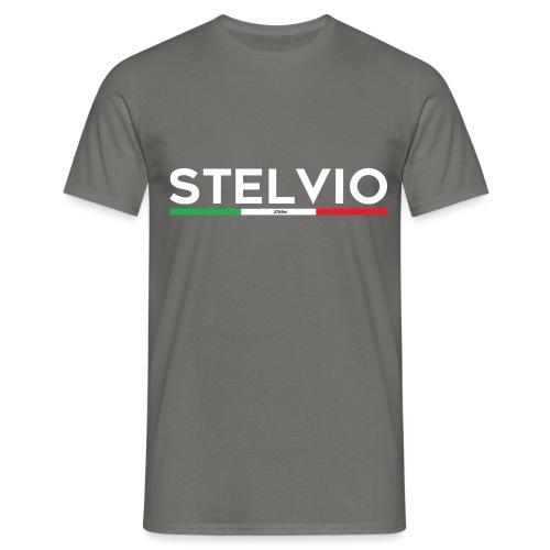 Stelvio mit Flagge - Männer T-Shirt