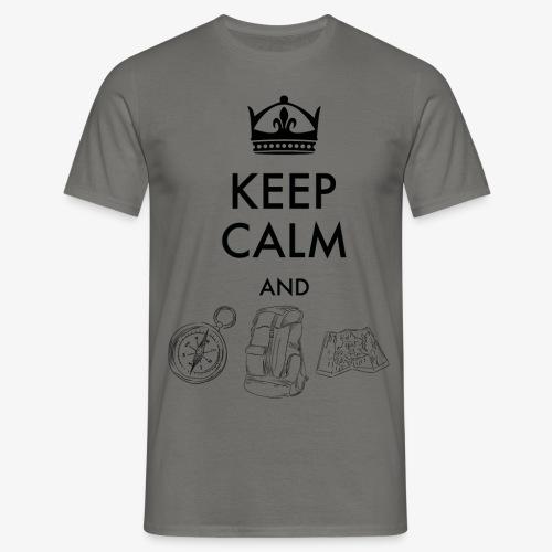 keepcalmandexplore - Men's T-Shirt