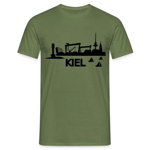 KIEL skyline - Männer T-Shirt
