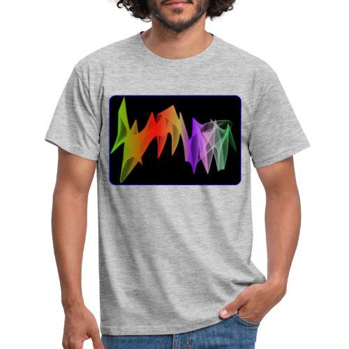 interpolierte zwei herzfrequenz - Männer T-Shirt