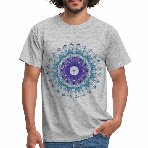 Mørk lilla mandala - Herre-T-shirt