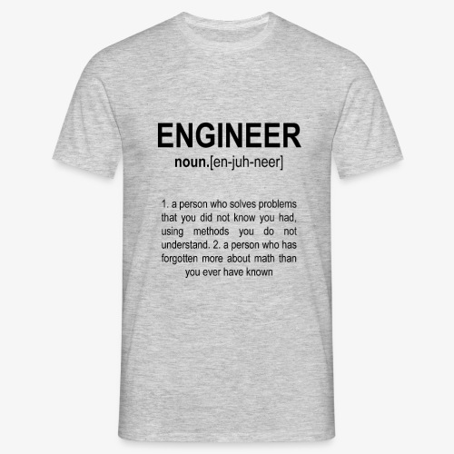 Engineer Def. 2 Black - T-shirt Homme