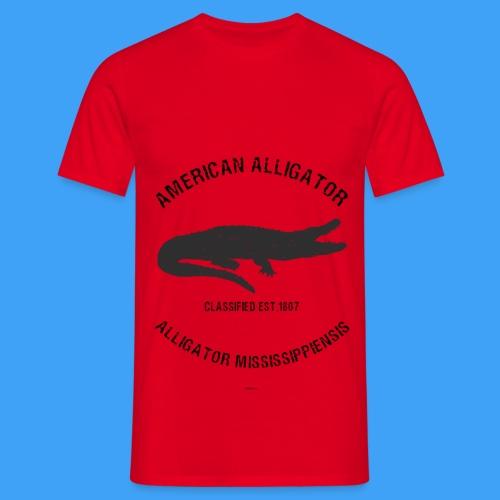 American Alligator black - Mannen T-shirt
