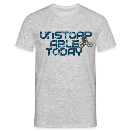 unstoppable today downhill - Männer T-Shirt