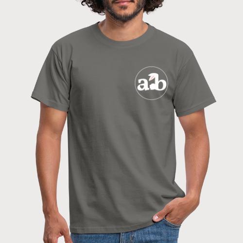 Amour the Bunny Logo White - Männer T-Shirt