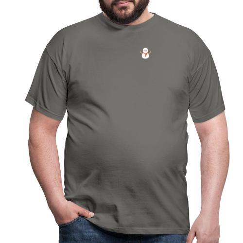 Minimalistische sneeuwpop - Mannen T-shirt