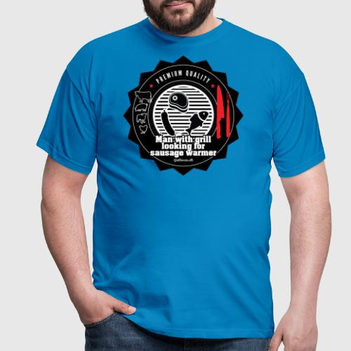 MAN WITH GRILL LOOKING FOR SAUSAGE WARMER - Herre-T-shirt