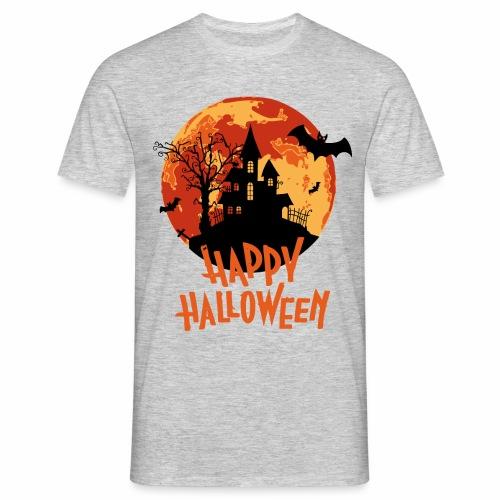 Bloodmoon Haunted House Halloween Design - Männer T-Shirt