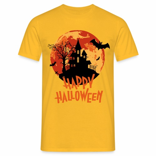 Bloodmoon Haunted House Halloween Design - Männer T-Shirt