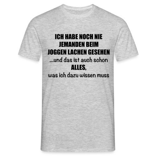 Anti-Joggen Spruch - Männer T-Shirt