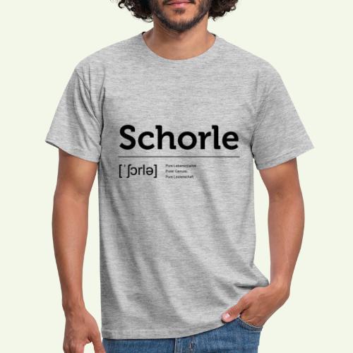 Schorle Lautschrift - Männer T-Shirt