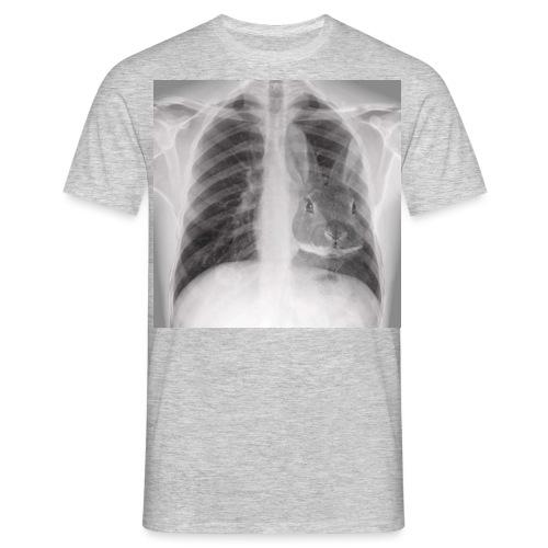 Röntgenbild Kaninchenherz hell - Männer T-Shirt