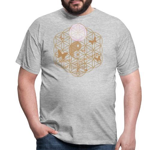 Das Leben umgeben von Energie. Blume des Lebens. - Männer T-Shirt
