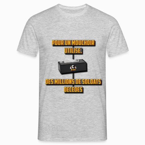 design soldat décédés - T-shirt Homme