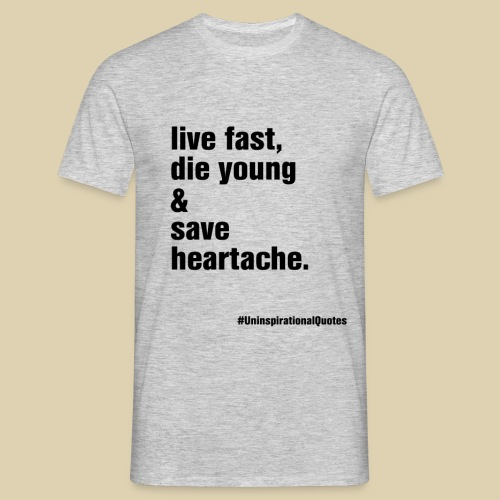 live fast png - Men's T-Shirt