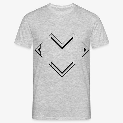 V - Herz - Männer T-Shirt