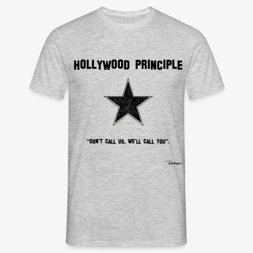 hollywood principle gif - Men's T-Shirt