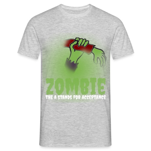 Zombie The A stands for - Men's T-Shirt