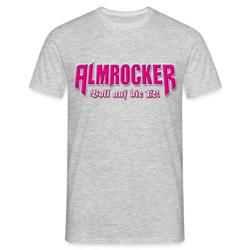 Schriftzug AlmRocker Voll auf die 12 png - Männer T-Shirt