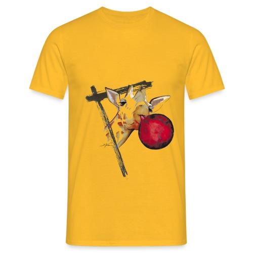 girafe et son ballon - T-shirt Homme