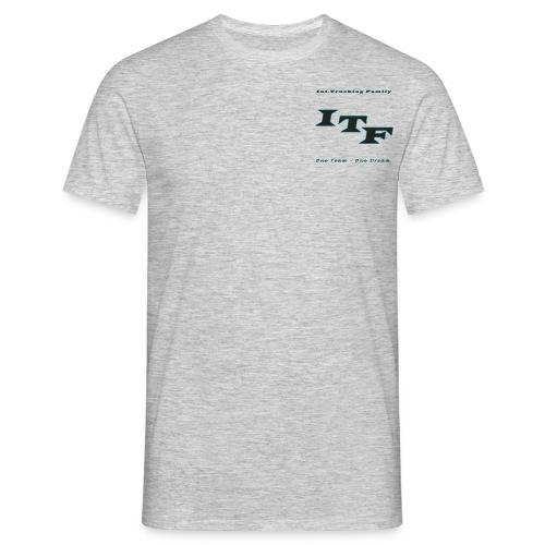 Logo Grijs Trans - Mannen T-shirt