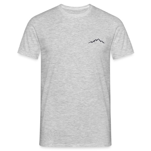 swiss alps clipart sihllouette ski mountains - Mannen T-shirt